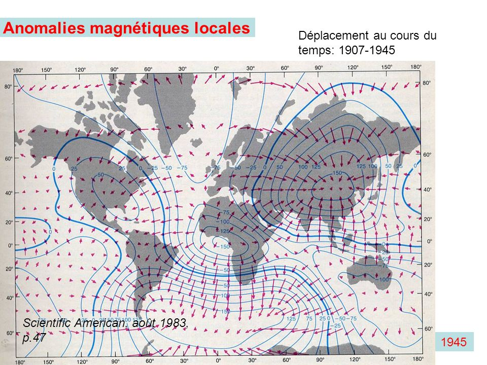 Anomalies magnétiques locales
