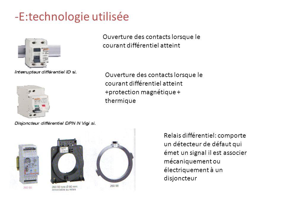 -E:technologie utilisée