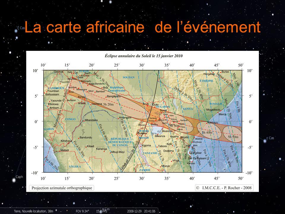 La carte africaine de l'événement