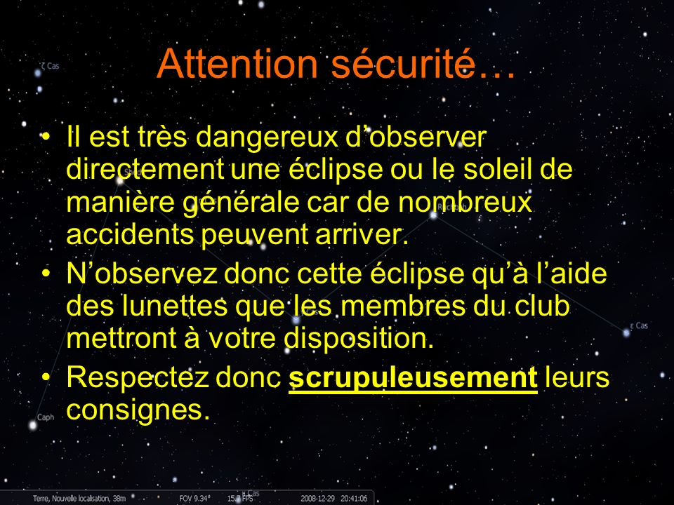 Attention sécurité…