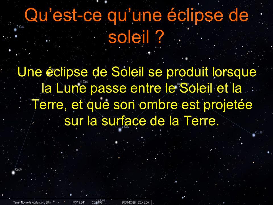 Qu'est-ce qu'une éclipse de soleil