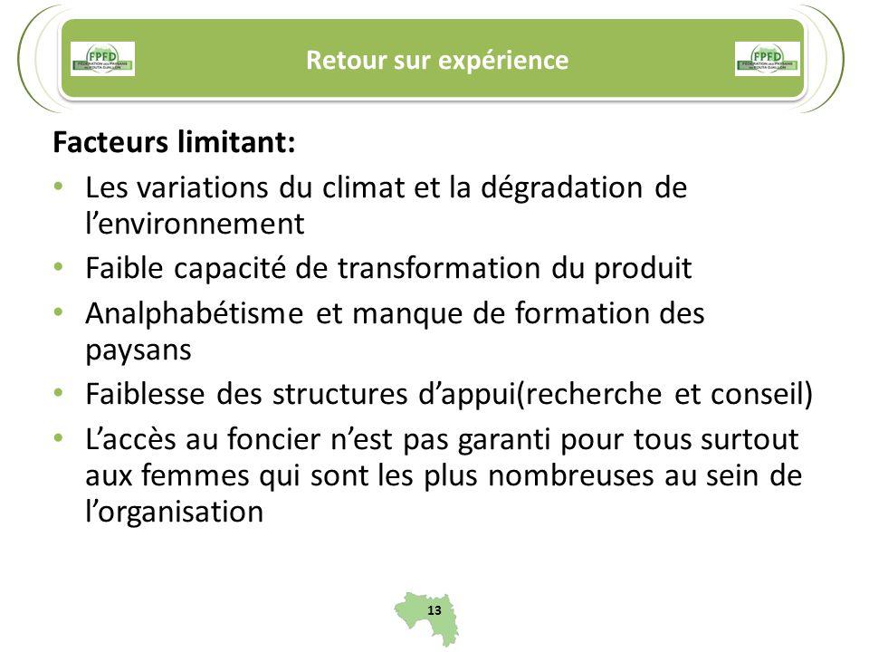 Les variations du climat et la dégradation de l'environnement