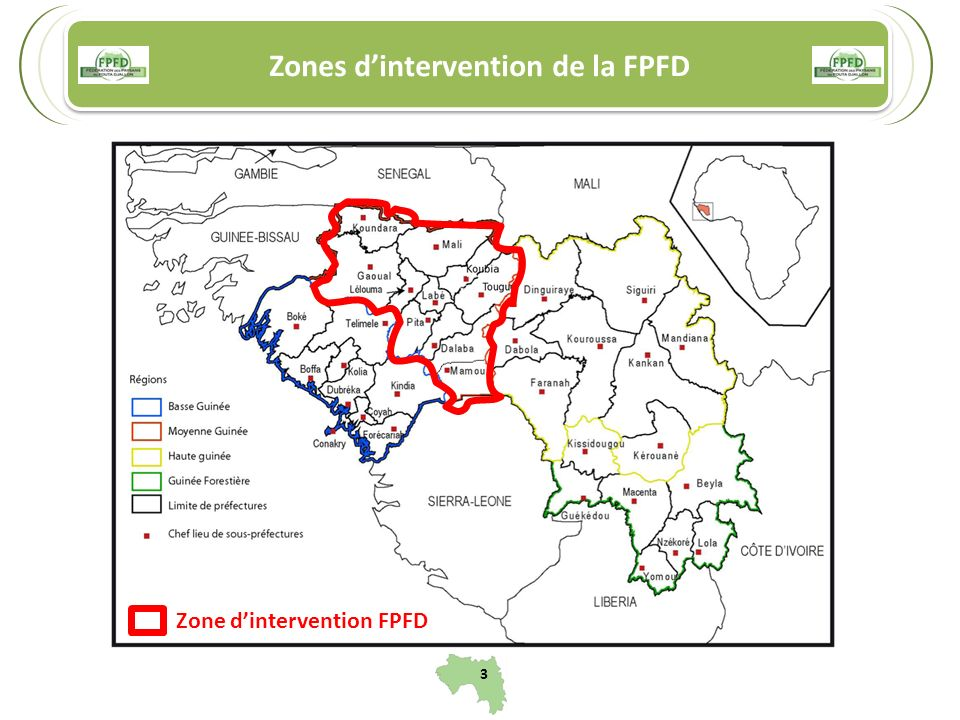 Zones d'intervention de la FPFD