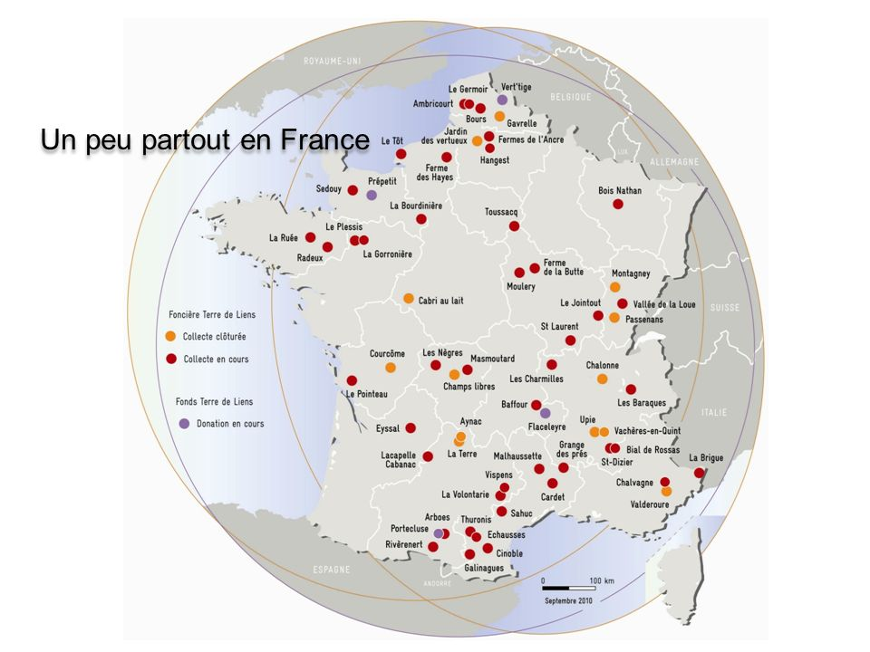 Un peu partout en France