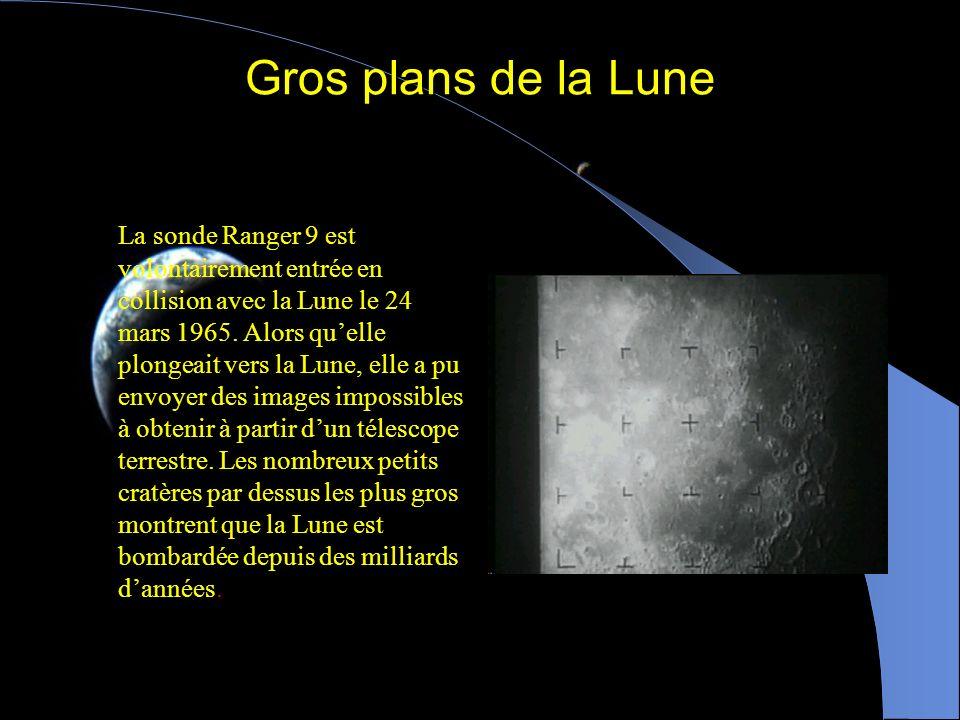 Gros plans de la Lune