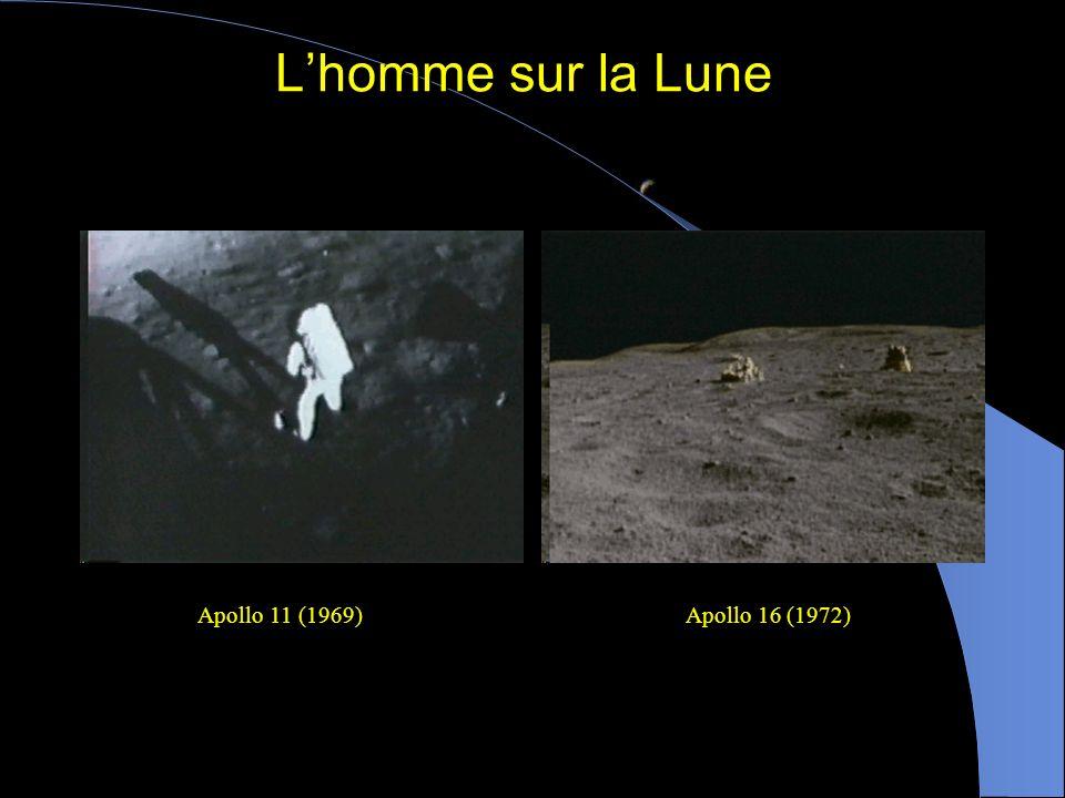 L'homme sur la Lune Apollo 11 (1969) Apollo 16 (1972)