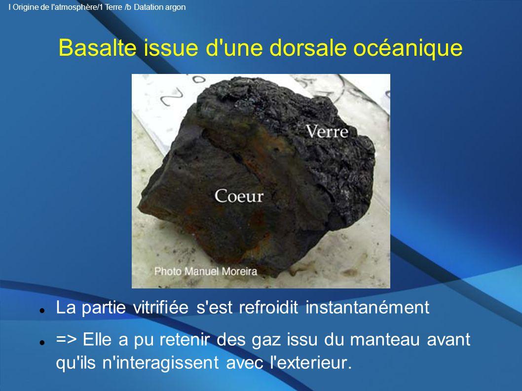 Basalte issue d une dorsale océanique