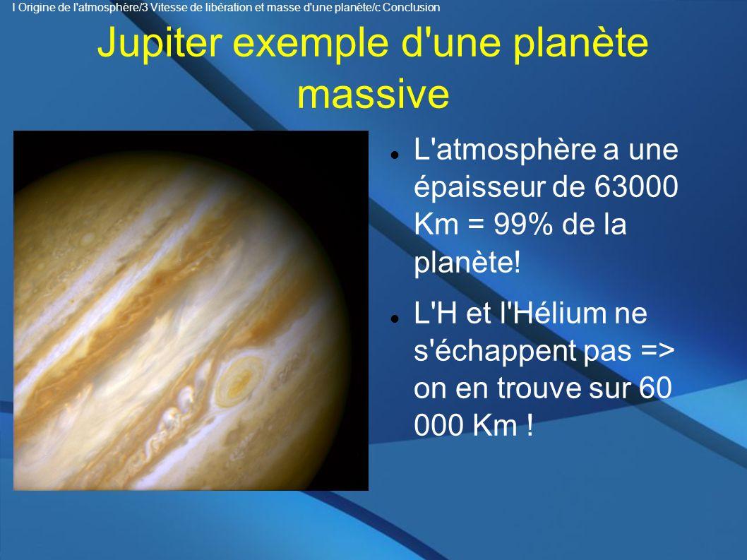 Jupiter exemple d une planète massive