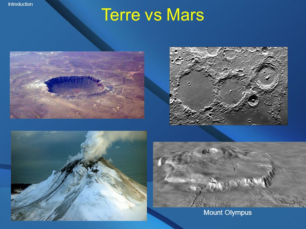 Terre vs Mars Introduction Mount Olympus