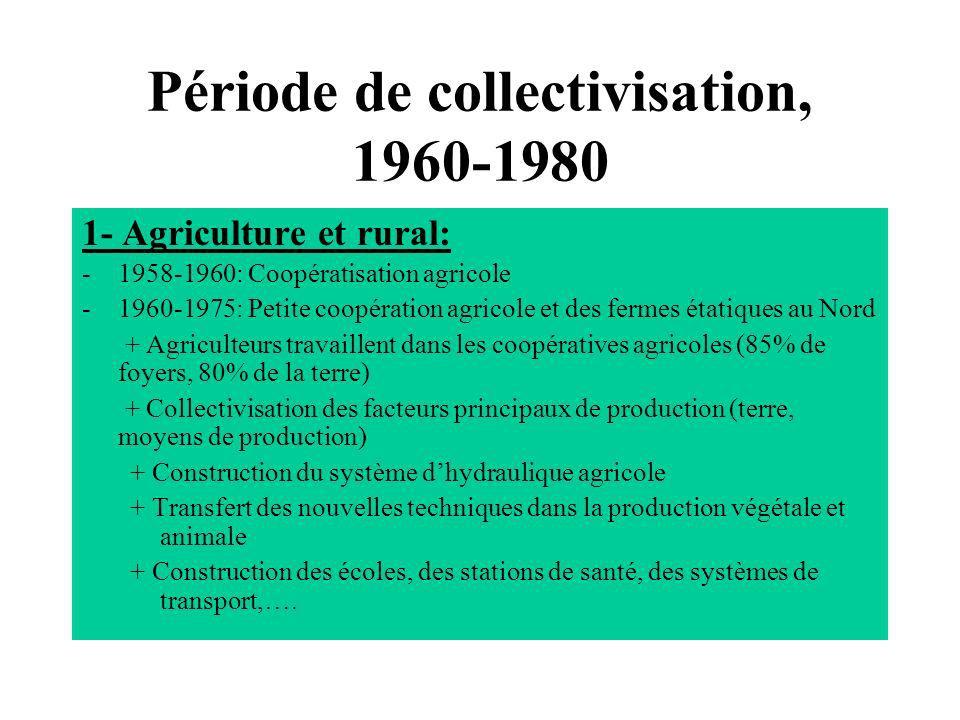 Période de collectivisation, 1960-1980