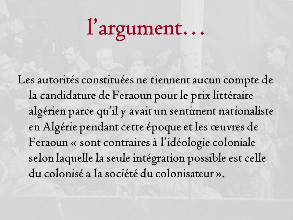 l'argument…