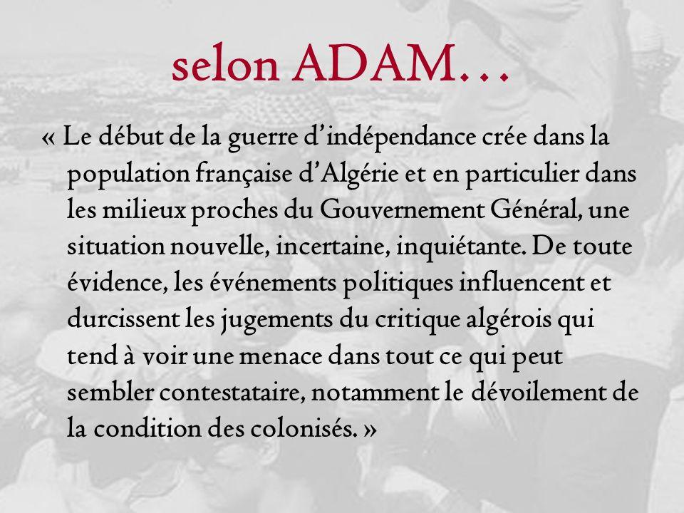 selon ADAM…
