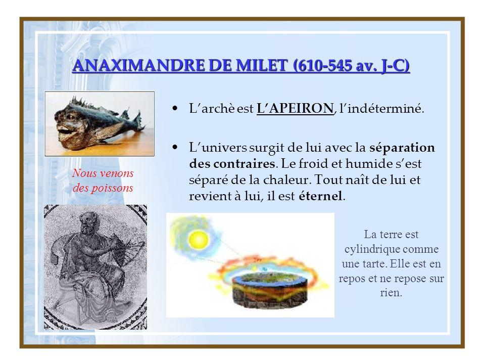 ANAXIMANDRE DE MILET (610-545 av. J-C)