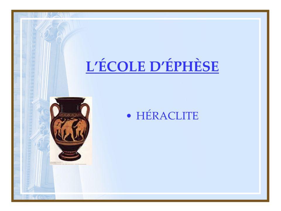L'ÉCOLE D'ÉPHÈSE HÉRACLITE