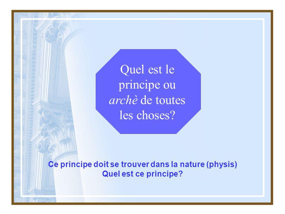 Ce principe doit se trouver dans la nature (physis)