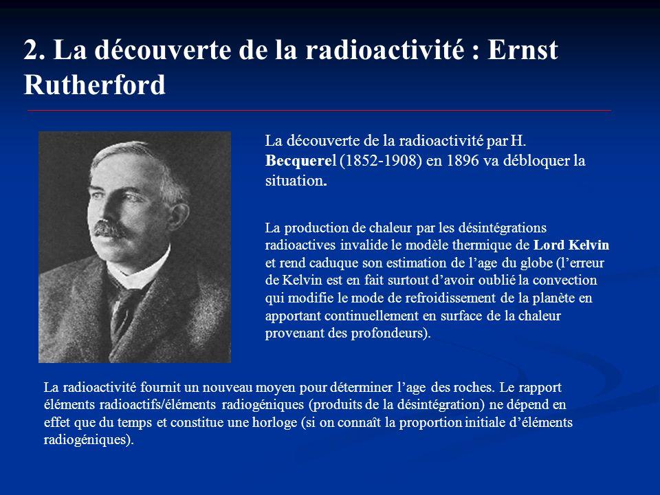 2. La découverte de la radioactivité : Ernst Rutherford