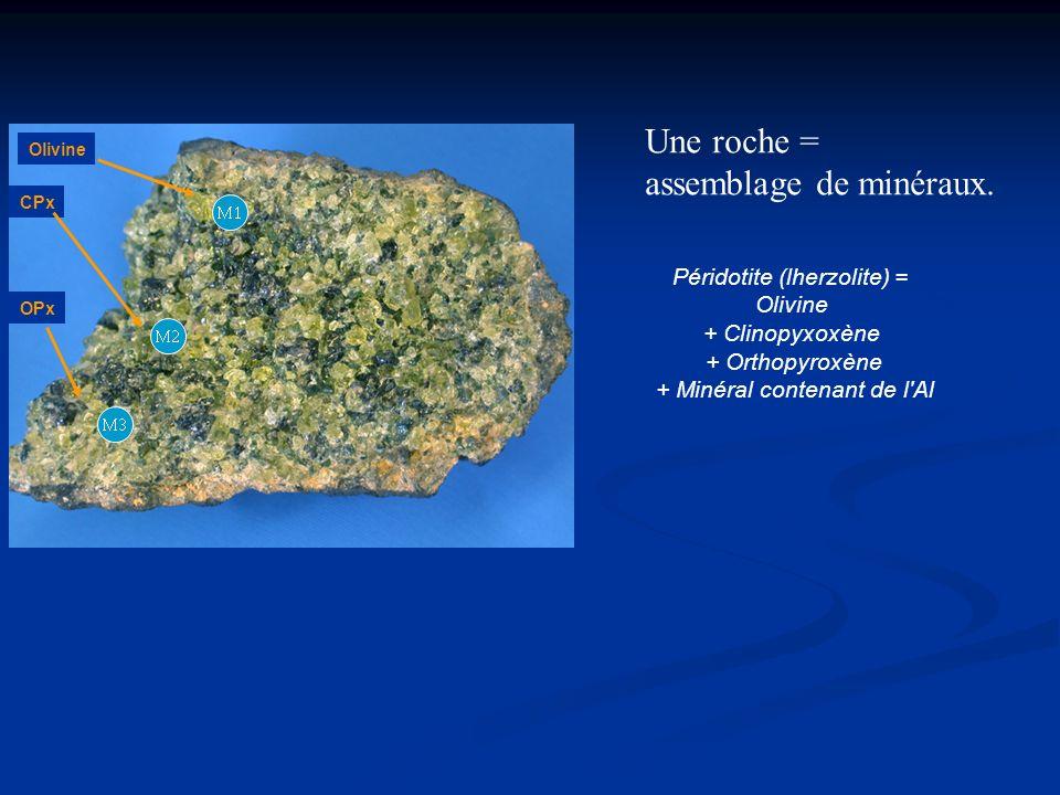 assemblage de minéraux.