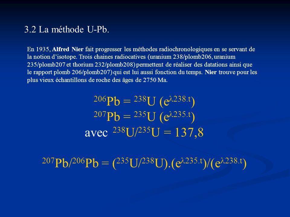 207Pb/206Pb = (235U/238U).(e235.t)/(e238.t)