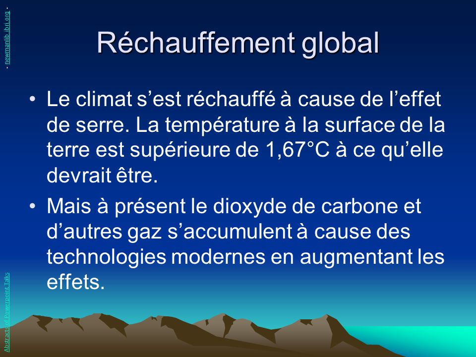 Réchauffement global - newmanlib.ibri.org -