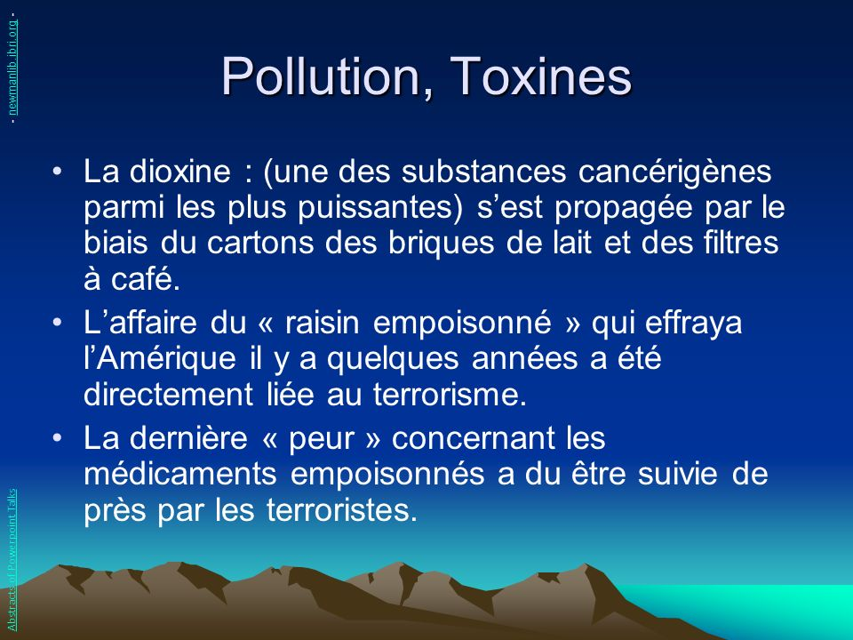 Pollution, Toxines - newmanlib.ibri.org -