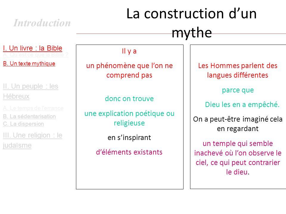 La construction d'un mythe