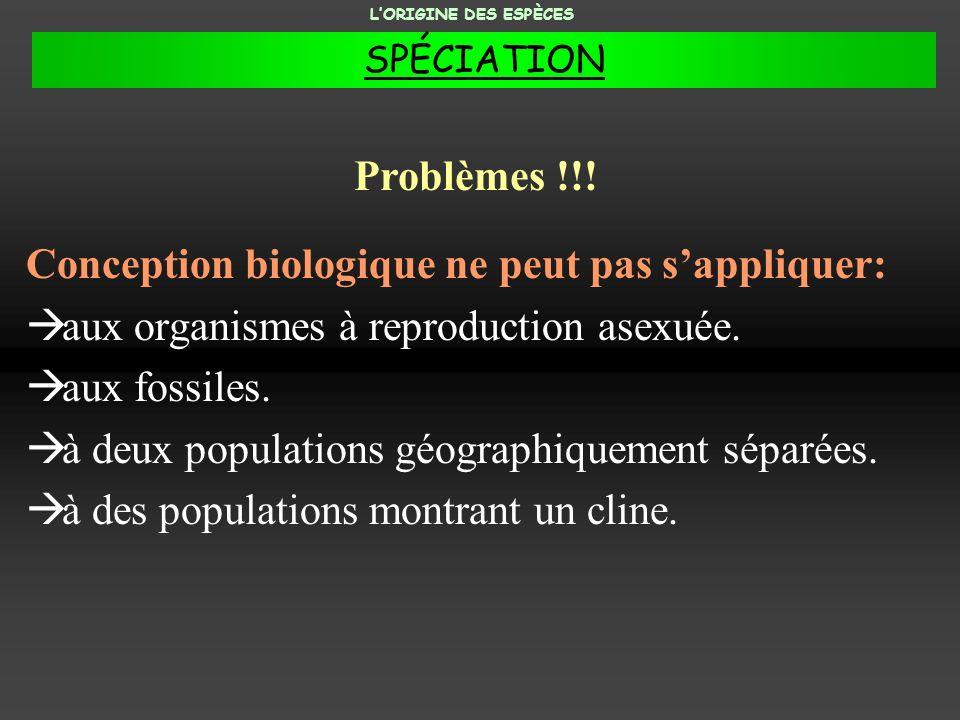 Conception biologique ne peut pas s'appliquer: