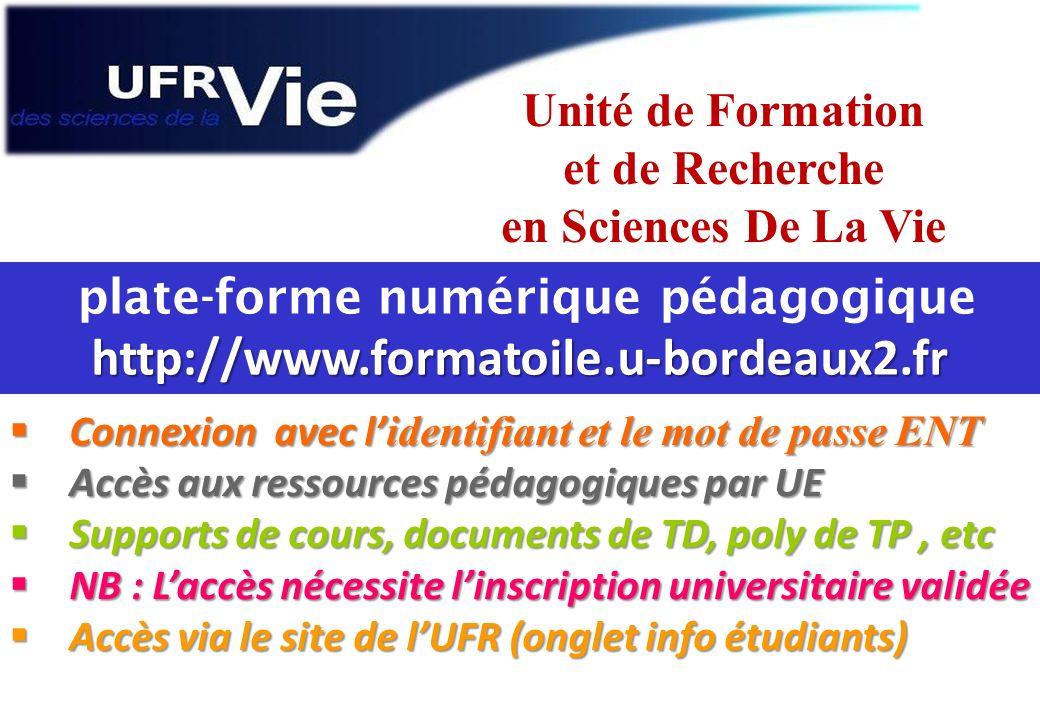 plate-forme numérique pédagogique http://www.formatoile.u-bordeaux2.fr
