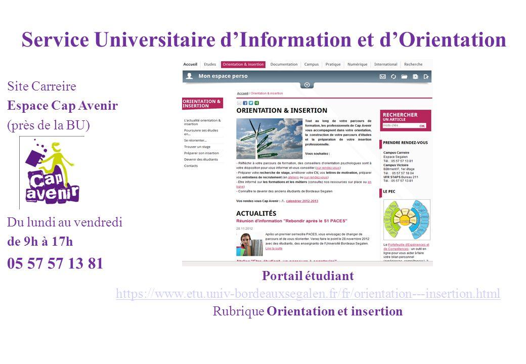 Service Universitaire d'Information et d'Orientation