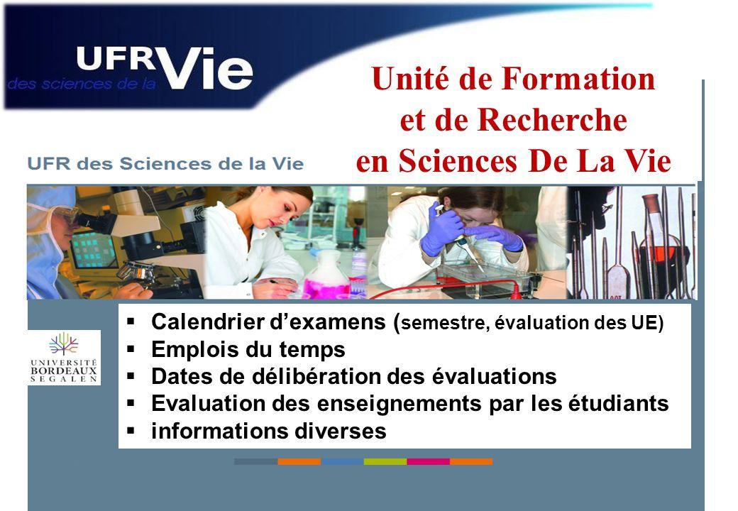 Unité de Formation et de Recherche en Sciences De La Vie