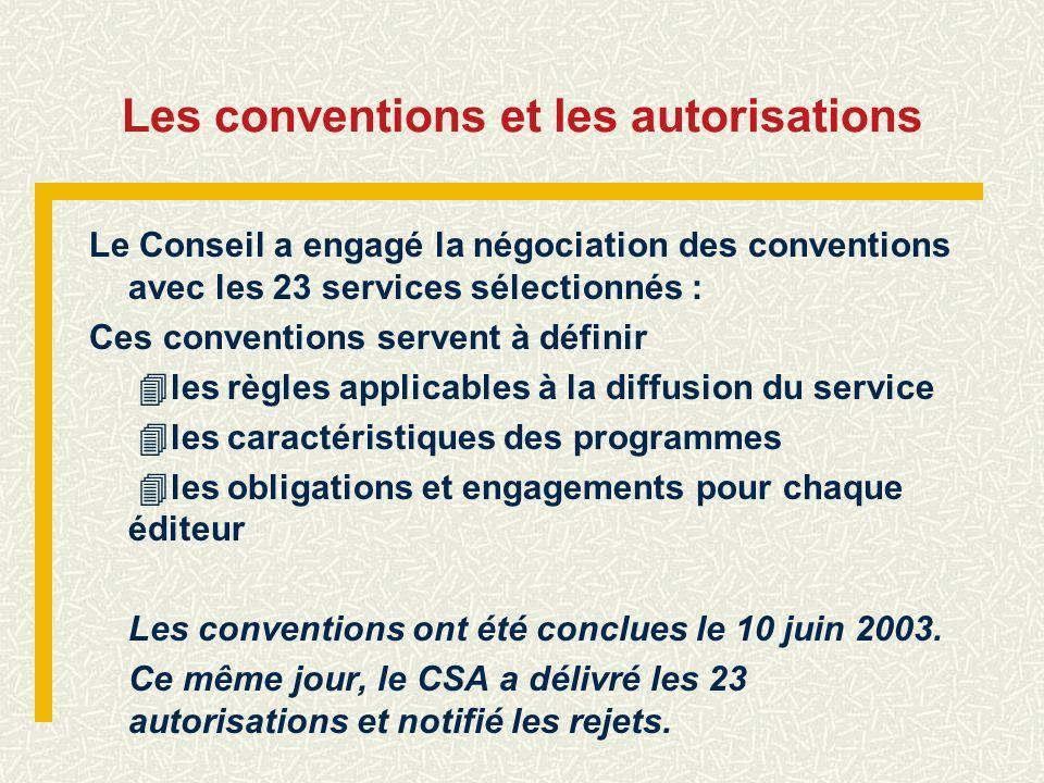 Les conventions et les autorisations
