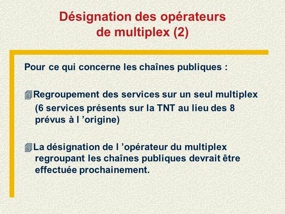 Désignation des opérateurs de multiplex (2)