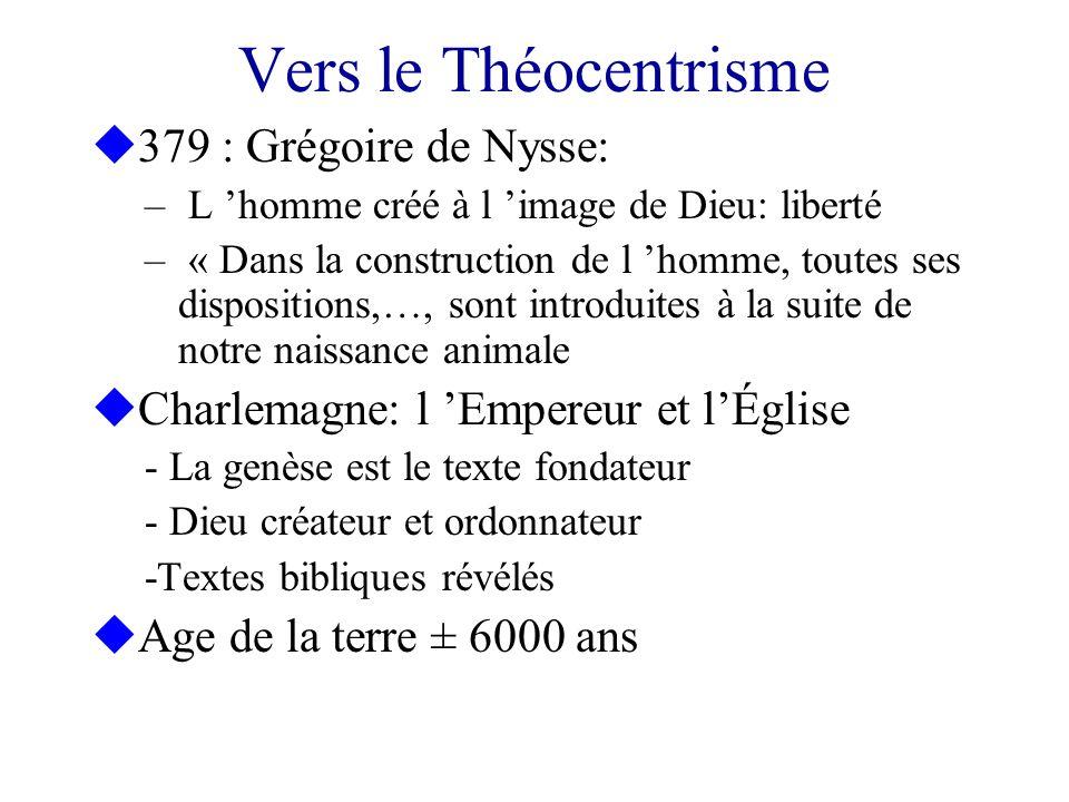 Vers le Théocentrisme 379 : Grégoire de Nysse: