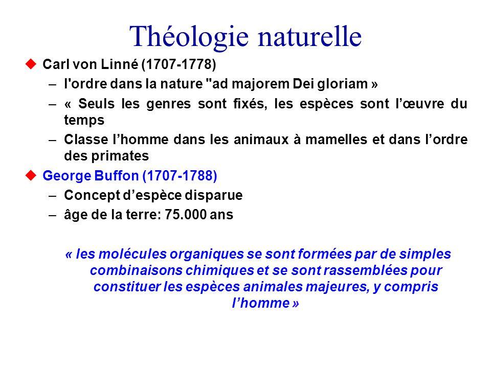 Théologie naturelle Carl von Linné (1707-1778)