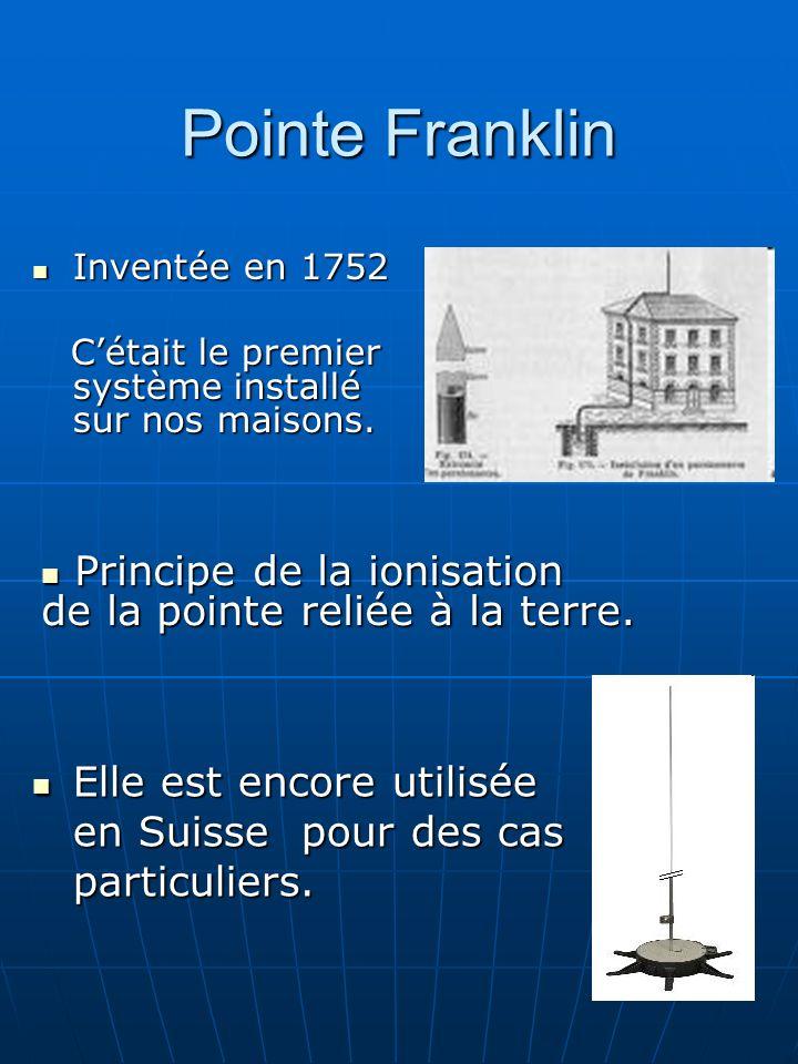 Pointe Franklin Inventée en 1752. C'était le premier système installé sur nos maisons.