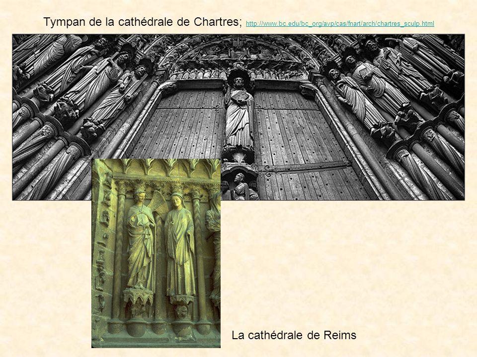 Tympan de la cathédrale de Chartres; http://www. bc