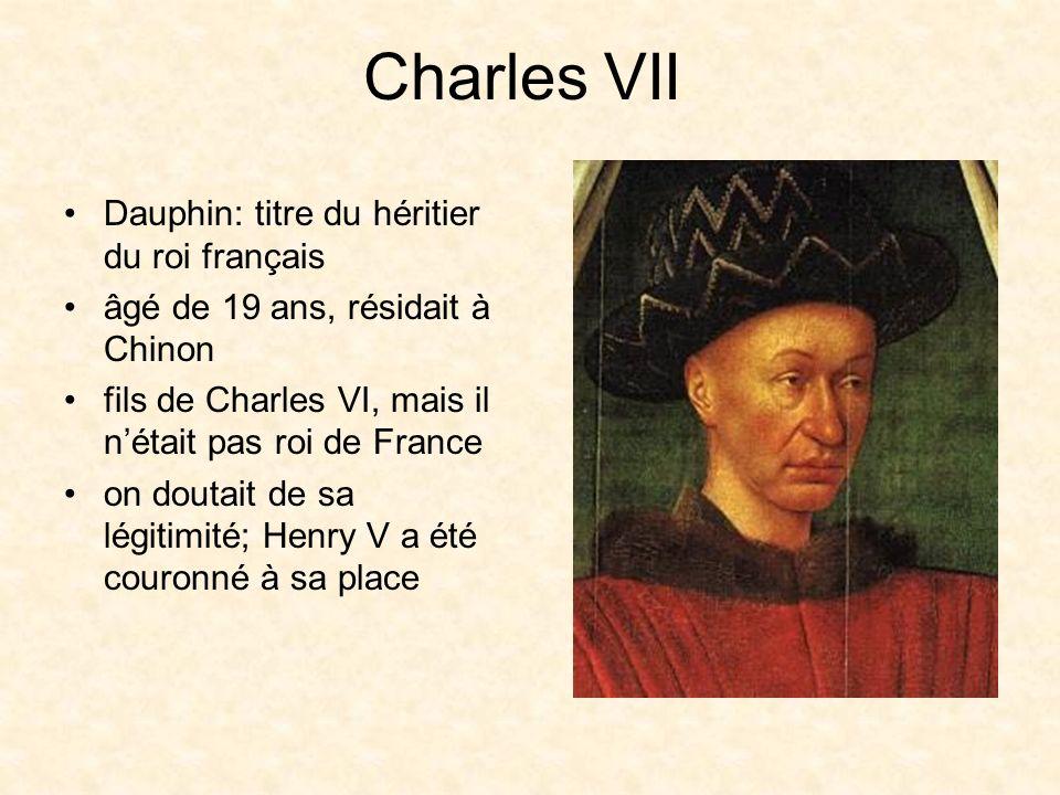 Charles VII Dauphin: titre du héritier du roi français