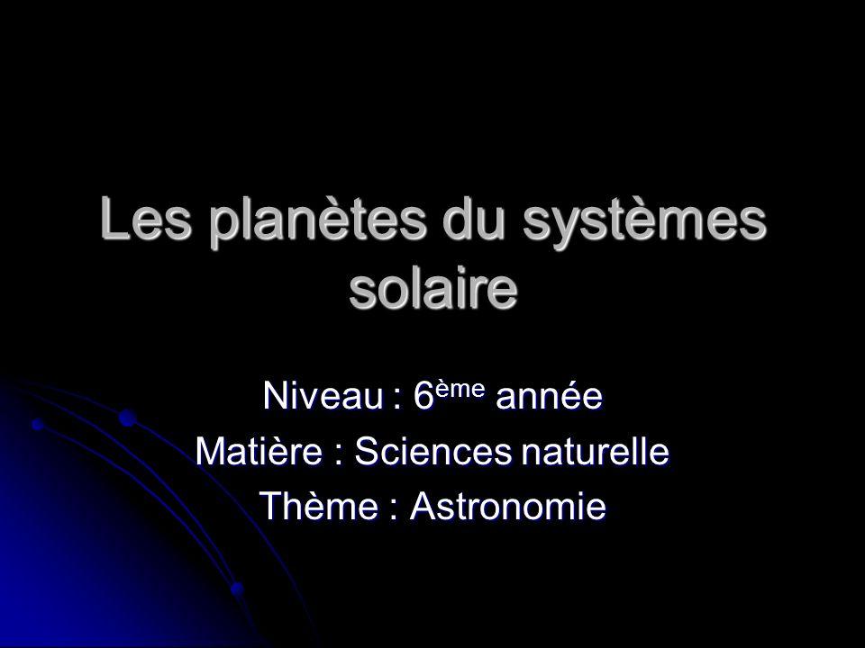 Les planètes du systèmes solaire