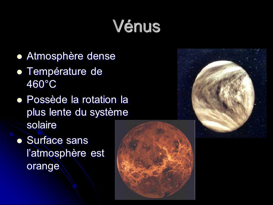 Vénus Atmosphère dense Température de 460°C