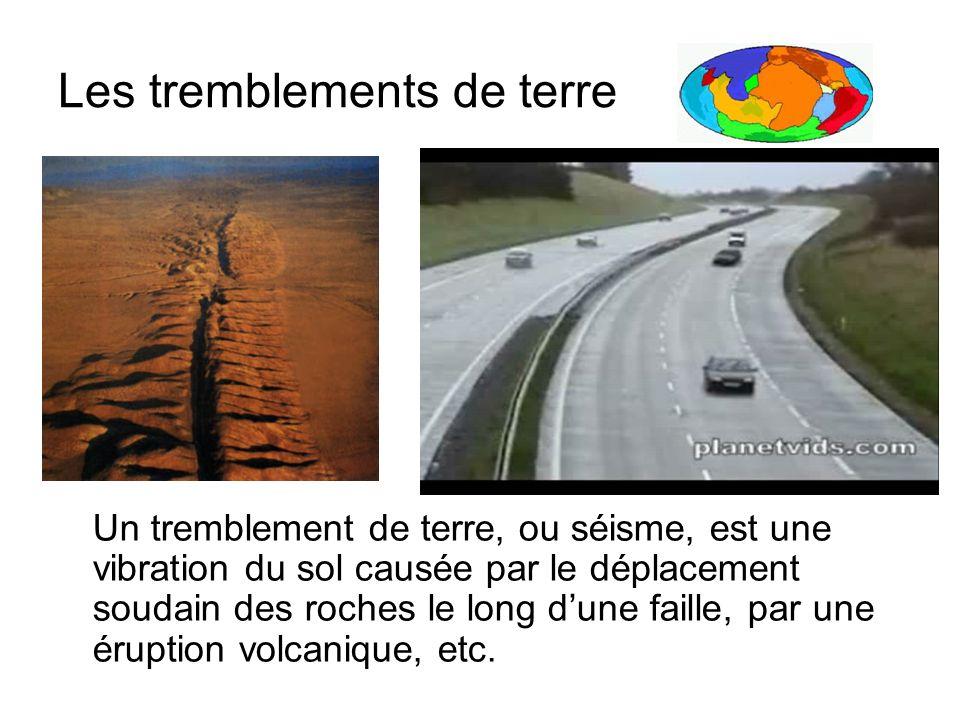 Les tremblements de terre