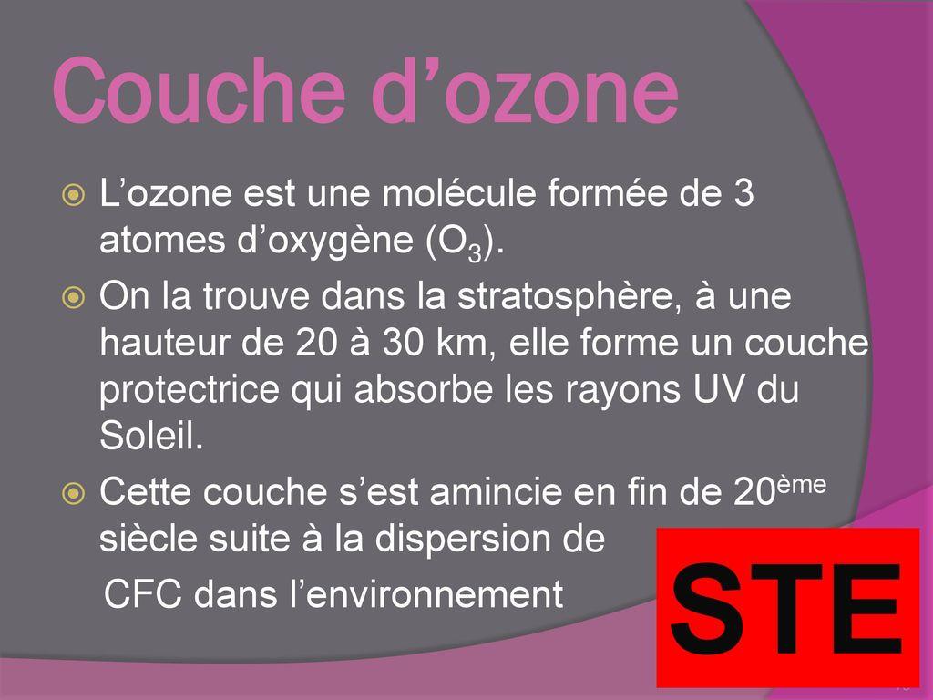 Rappel en 3 secondaire j ai appris que ppt t l charger - Couche d ozone en anglais ...