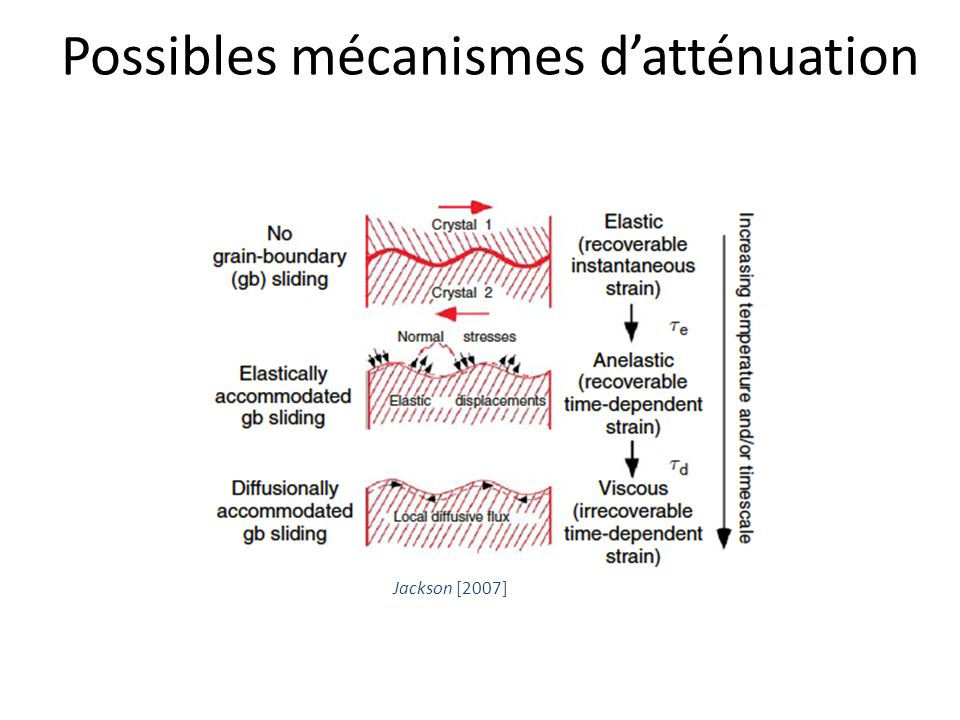Possibles mécanismes d'atténuation