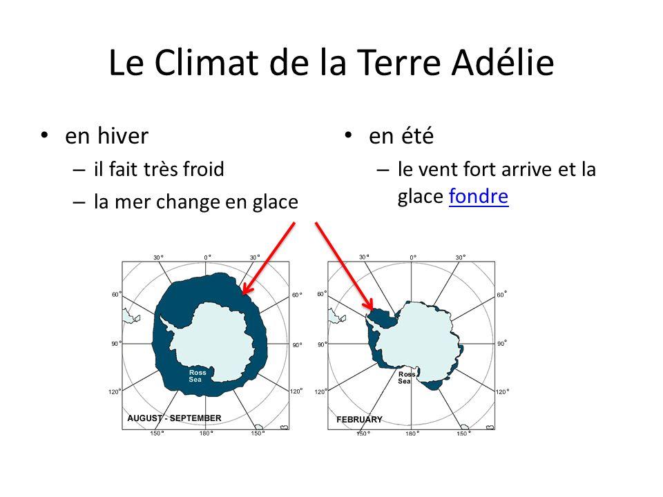 Le Climat de la Terre Adélie