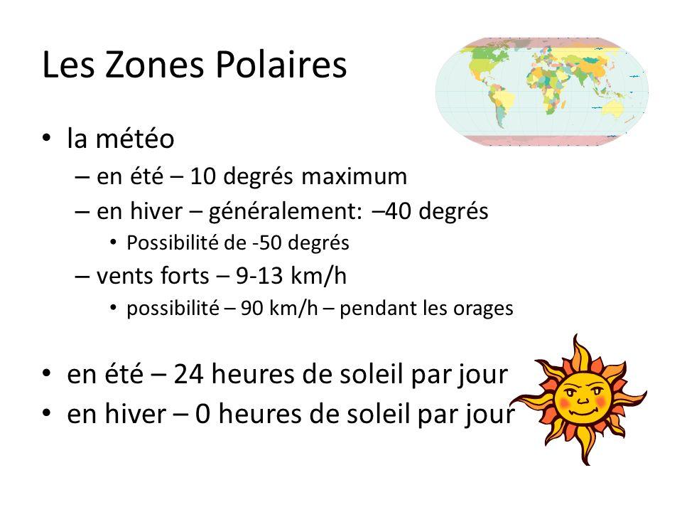 Les Zones Polaires la météo en été – 24 heures de soleil par jour