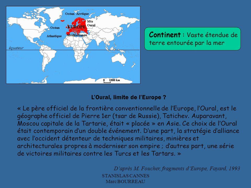 Continent : Vaste étendue de terre entourée par la mer