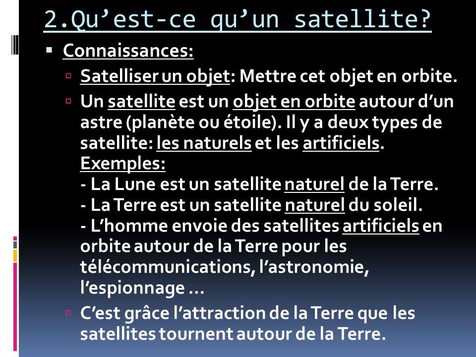 2.Qu'est-ce qu'un satellite