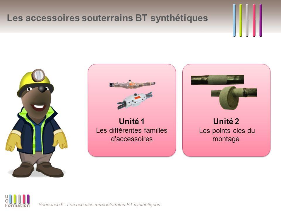 Les accessoires souterrains BT synthétiques