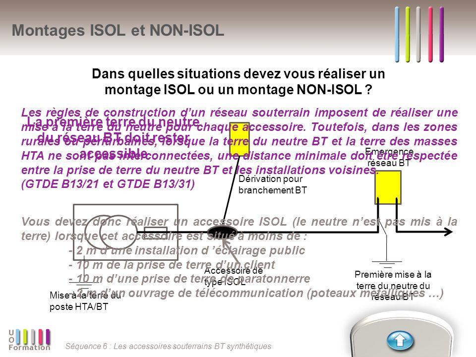 Montages ISOL et NON-ISOL