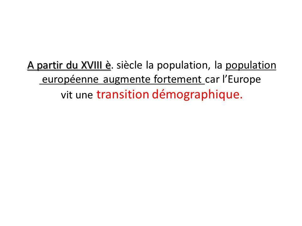 A partir du XVIII è. siècle la population, la population