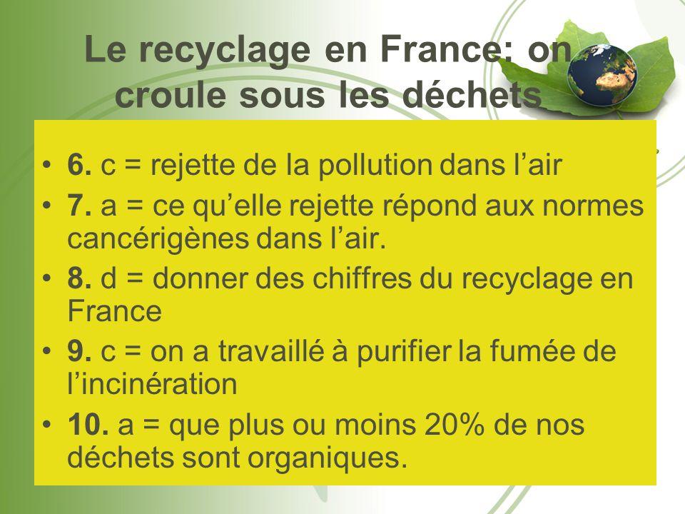 Le recyclage en France: on croule sous les déchets