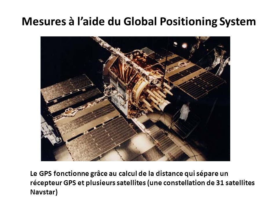 Mesures à l'aide du Global Positioning System